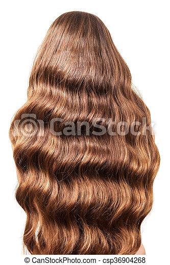 πάνω , αυτήν , ρεύση , απομονωμένος , πίσω , μαλλιά , κυματιστός , υπέροχος , κλείνω , άσπρο  - csp36904268