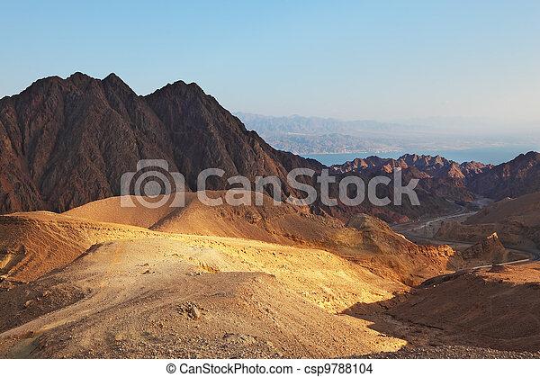 πάνω , ερυθρά θάλασσα , desert., σινά , ανατολή  - csp9788104