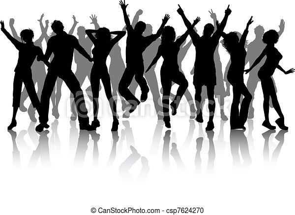 πάρτυ , σύνολο , άνθρωποι  - csp7624270