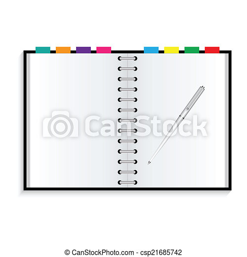 πένα , σημειωματάριο  - csp21685742