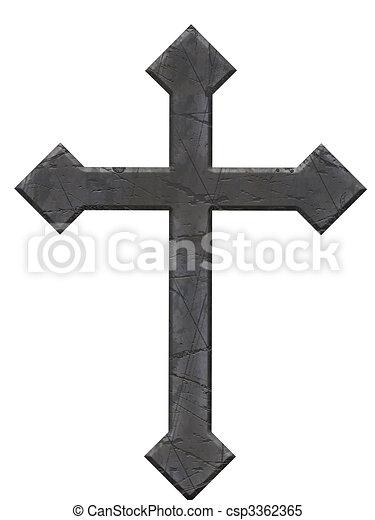πέτρα , σταυρός  - csp3362365