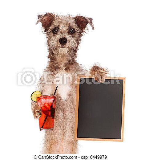 πίνω , είδος μικρού σκύλου , κράτημα , σήμα  - csp16449979