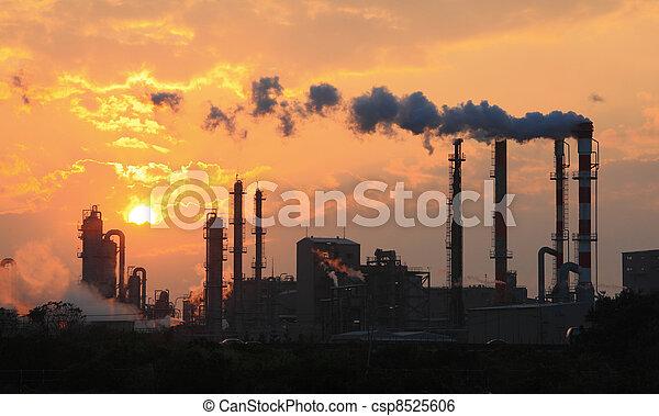 πίπα καπνίσματος , ρύπανση , εργοστάσιο , καπνός , αέραs  - csp8525606