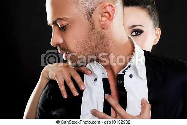 πίσω , γυναίκα , αγαπώ , άντραs  - csp10132932