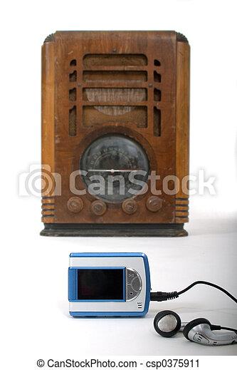 παίχτης , mp3 , καινούργιος , γριά , ραδιόφωνο , 1  - csp0375911