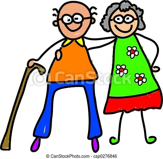 παππούς και γιαγιά , μου  - csp0276846
