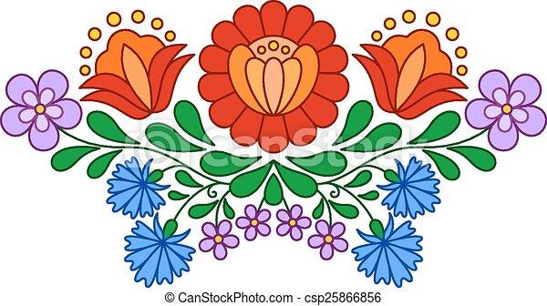 παραδοσιακός , πρότυπο , ούγγρος , άνθρωπος , κέντημα  - csp25866856
