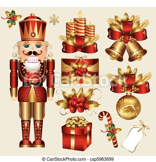 παραδοσιακός , στοιχεία , xριστούγεννα  - csp5963699
