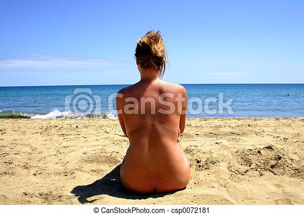 παραλία , γυμνός  - csp0072181