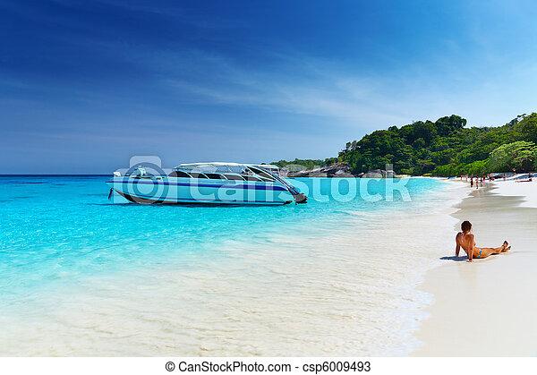 παραλία , σιάμ , τροπικός  - csp6009493