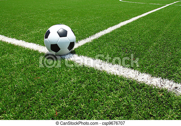 πεδίο , μπάλλα ποδοσφαίρου  - csp9676707