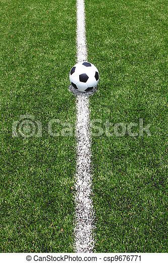 πεδίο , μπάλλα ποδοσφαίρου  - csp9676771
