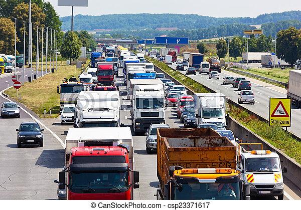 πελτέs , κυκλοφορία , εθνική οδόs  - csp23371617