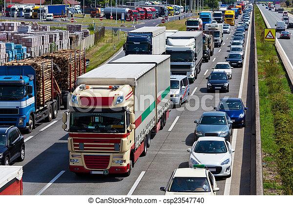 πελτέs , κυκλοφορία , εθνική οδόs  - csp23547740