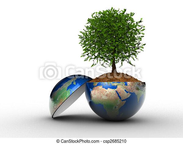 περιβάλλον , γενική ιδέα  - csp2685210