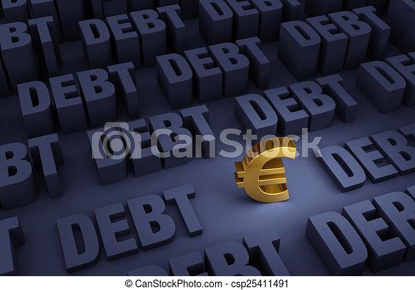 περιβάλλω , ανατέλλων , χρέος , euro  - csp25411491