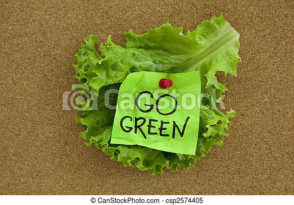 πηγαίνω , γενική ιδέα , πράσινο , πίνακας , δελτίο  - csp2574405