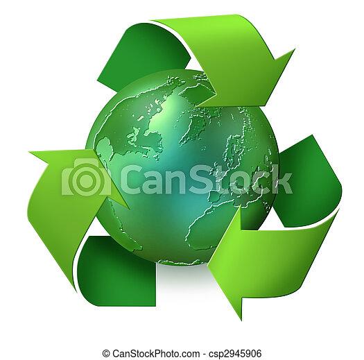 πλανήτης , ανακύκλωση , πράσινο  - csp2945906