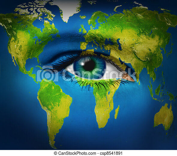 πλανήτης γαία , μάτι , ανθρώπινος  - csp8541891