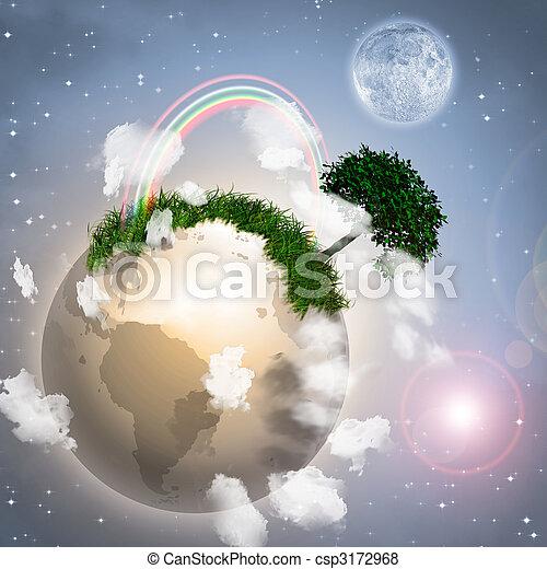 πλανήτης , μικρός  - csp3172968