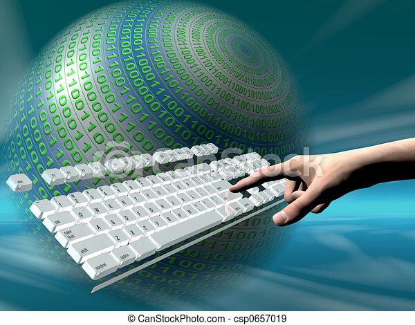 πληκτρολόγιο , πρόσβαση , internet  - csp0657019