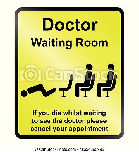 πληροφορία , αναμονή , γιατροί , δωμάτιο , σήμα  - csp54395993