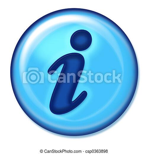 πληροφορία , κουμπί , ιστός  - csp0363898