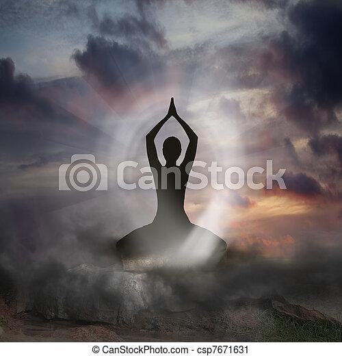πνευματικότητα , γιόγκα  - csp7671631