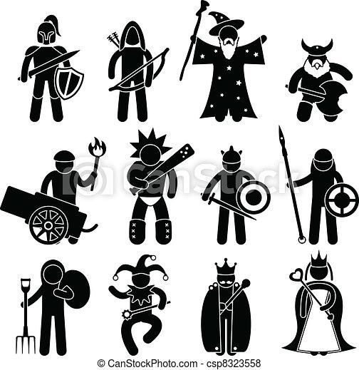 πολεμιστής , καλός , αρχαίος , χαρακτήρας  - csp8323558