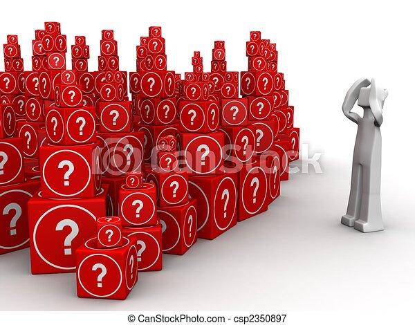 πολύ , ένταση , γενική ιδέα , πρόβλημα  - csp2350897