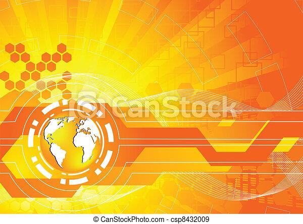 πορτοκάλι , ευφυής , μικροβιοφορέας , φόντο  - csp8432009