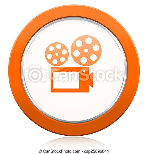 πορτοκάλι , ταινία , σήμα , εικόνα , κινηματογράφοs  - csp25896044