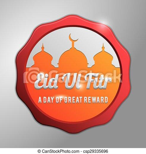 πορτοκάλι , fitr, σήμα , eid, al  - csp29335696