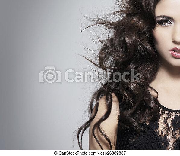 πορτραίτο , γυναίκα , νέος , ομορφιά , ελκυστικός  - csp26389887