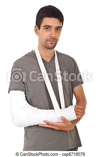 πορτραίτο , σπασμένος , άντραs , χέρι  - csp6718076