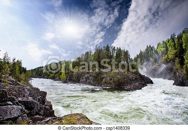 ποτάμι , καταρράκτης  - csp1408339