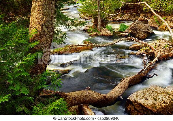 ποτάμι , καταρράκτης  - csp0989840
