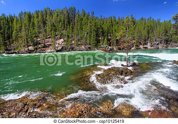 ποτάμι , yellowstone , καταρράκτης  - csp10125419