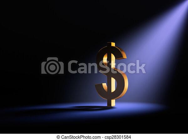 προβολέας , τολμηρός , δολάριο  - csp28301584