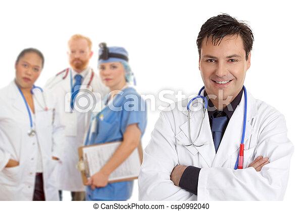 προσωπικό , νοσοκομείο , ιατρικός εργάζομαι αρμονικά με  - csp0992040