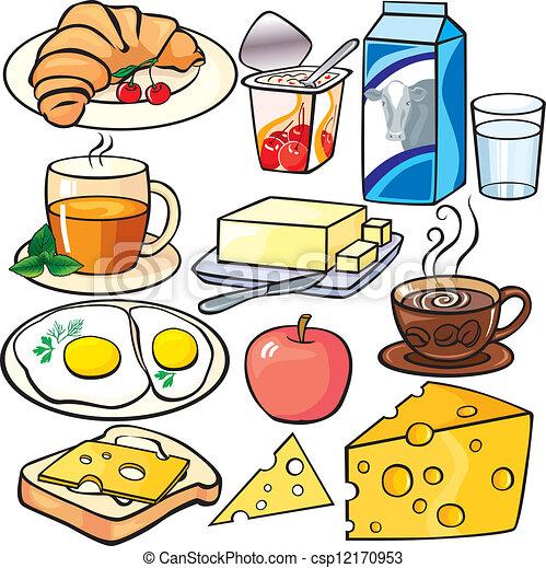 πρωινό , θέτω , απεικόνιση  - csp12170953