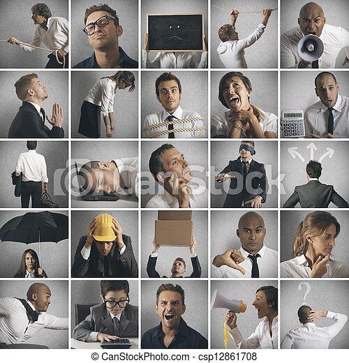 πρόβλημα , γενική ιδέα , επιχείρηση , κρίση  - csp12861708