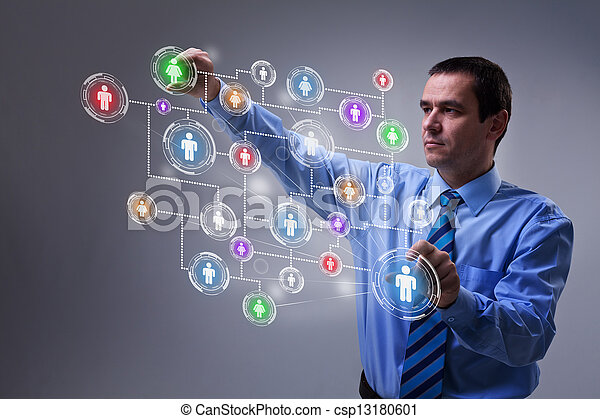 πρόσβαση , networking , μοντέρνος , κοινωνικός , επεμβαίνω , επιχειρηματίας  - csp13180601
