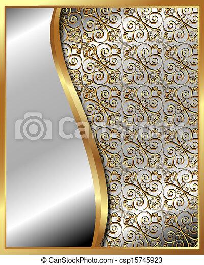 πρότυπο , κορνίζα , 4 , χρυσός  - csp15745923