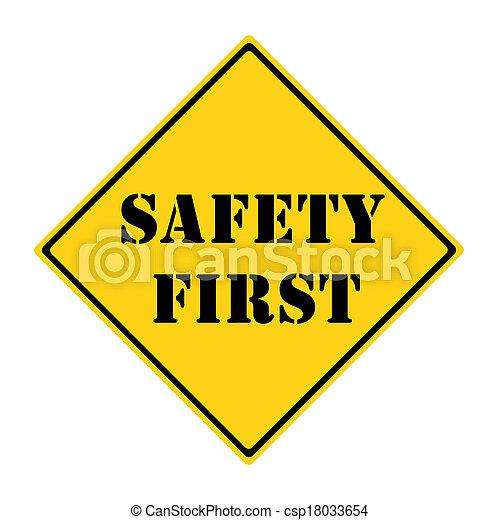 πρώτα , ασφάλεια , σήμα  - csp18033654