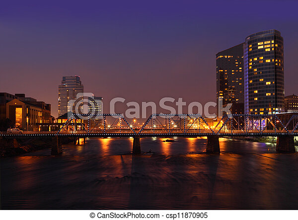 πόλη , μεγαλειώδης , καταρράκτης  - csp11870905