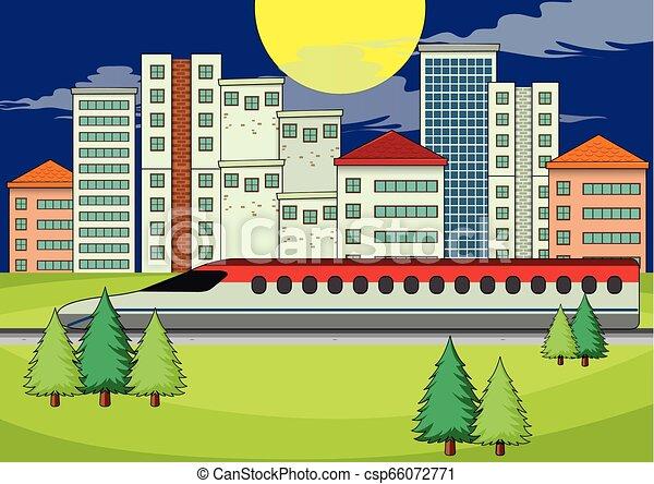 πόλη , μοντέρνος , μεταφορά  - csp66072771