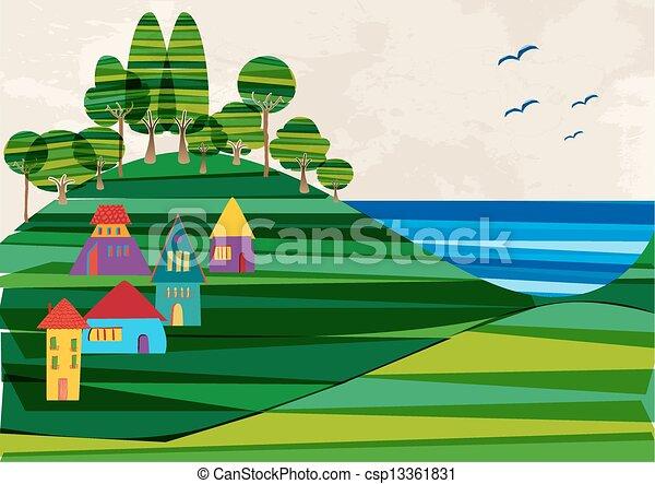 πόλη , παραλία , σύγχρονος  - csp13361831
