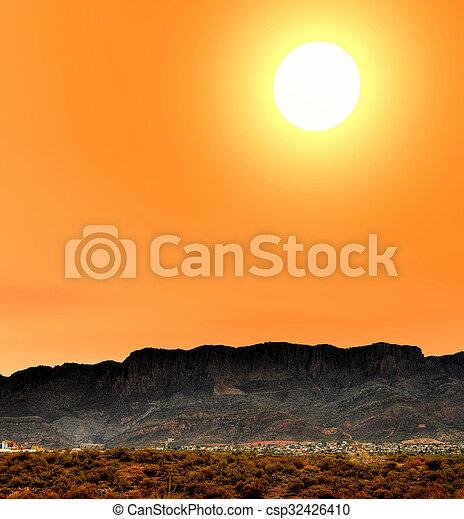 πόλη , arizona , ανατολή  - csp32426410