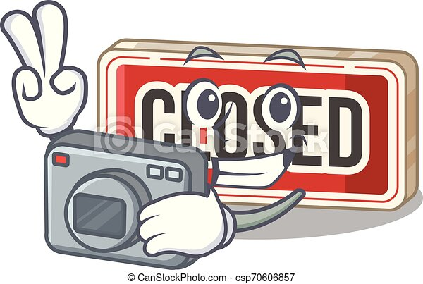 πόρτα , φωτογράφος , επισύναψα , σήμα , κλειστός , γελοιογραφία  - csp70606857